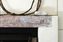 """Mantels The Darlings Love / Mantels are the focal point in most cases...so why don't you make it a """"conversation"""" topic with your reclaimed wood!"""