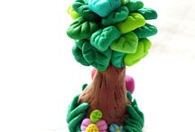 Polymer Clay: Tree