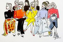 Fashion first row illustrated