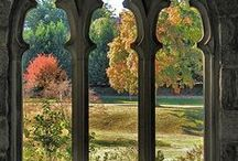 Windows / More ideas for a mural: pictures of gothic windows looking out onto a beautiful scene
