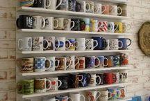 Repisas para tasas de café.