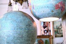 Maps & Globes / New & old. Upcycling, DIY & crafts using maps & globes. Gift ideas to save you the DIY trouble!