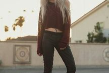 edgy Fashion / nails, hair, fashion, clothes, girls, awesome, goals