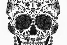 Sugar Skulls, Crowns & Diamonds Tatts