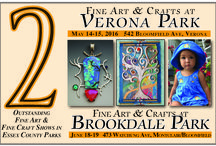 2016 Verona & Spring Brookdale Park shows / Juried, professional fine artists, fine crafters and speciality food vendors displaying and selling their work in beautiful Essex County Parks in New Jersey.