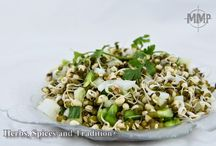 Sprouted Mung bean Salad / Raw mung bean and cooked mung bean salad