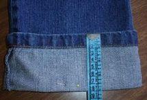 bainha original de calça jeans