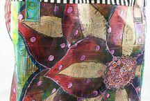 malovaný textil