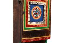 Ethnic Box Key Ring Holder