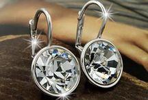 Swarovski Crystal earrings for sale. Kimscloset@shaw.ca. / Swarovski crystal earring for sale.  Contact me!  Kimscloset@shaw.ca