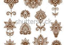 орнамент для вышивки индия