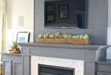 TV / fire place