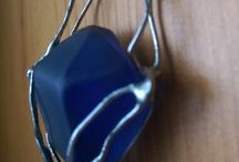 our new sea glass pendants
