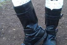 Boot cuffs / Cuffs for boots. Several techniques and fabrics. / by Maru Lezama