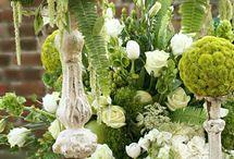 blommgrupp i grönt
