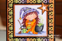 Halloween cards / Cards for Halloween by Dis Digis