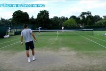 Practice of professional tennis