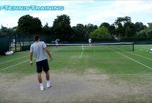 Practice of professional tennis