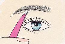 Beauty: Eyes, brows, make up power / Make-up:  eye make-up for green, hazel, brown, blue eyes                  eye-brows and eyelashes;