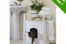 kočka záchod