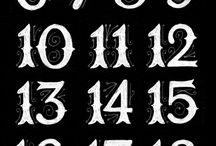 numbers & fonts