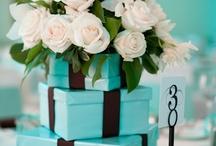 Centerpiece Tiffany blues