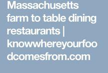 Farm to table restaurants in Massachusetts
