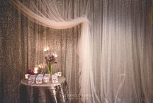 Radiant Orchid Wedding / The theme of this styling was to capture the beauty of a floral garden. The tables were adorned with flickering candlelight, gorgeous silver pintuck linen, custom floral napkins decorated with customised chocolate bars. A hand lettered + beautifully styled escort table topped off the styling and made for an opulent and personalised event. Wedding reception ideas. See the full film on our YouTube channel: https://youtu.be/Tmhase_MhPM