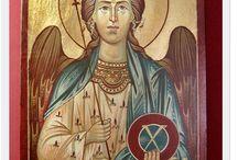 Ikony na deskach pisane / ikony świętych na desce pisane