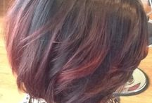 short brown and red ombre hair