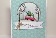 white christmas stampin up