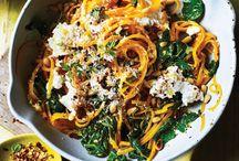 Spiralizer Recipes / BUtternut squash noodles