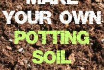 Making potting soil