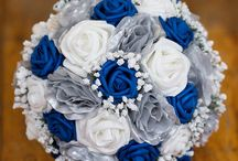 Blue Silver Wedding