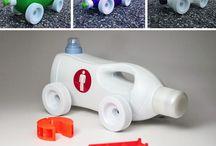 kierrätys asioita leluja ym. koristeita