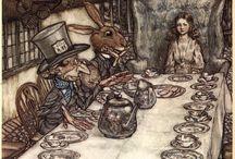 Arthur Rackham / Arthur Rackham (19. září 1867 - 6. září 1939) byl anglický ilustrátor. Pracoval jaro redaktor a kreslíř dětských časopisů, ilustroval více než třicet knih. Mezi nimi byly i Gulliverovy cesty, Alenka v říši divů či první sbírka hororových povídek E. A. Poea.