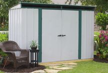 Arrow® Euro-Lite™ Pent Window Shed 10' x 4' - ELPHD104 / For the maximum storage needs in the smallest of areas this Lean Too Steel Storage Shed fits almost anywhere you would like to place the shed