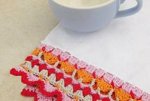 Crochet Trim And Edging / Crochet trim and crochet edging for pillowcases, and dishtowels