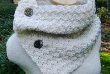 Cuellos, bufandas y guantes Crochet