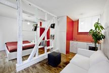 Small Apartment designs / Clever use of space