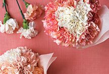 Palette: Pink Carnation / Love for the classic carnation.  Versatile, strong, full and naturally in romantic colors.