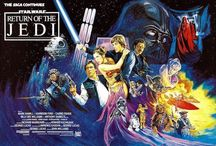 Film Poster Movie Art Illustrations / Josh created some epic film posters including Star Wars Return of the Jedi!