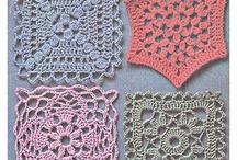 crochet - hækletøj / nice patterns to make nice shawls, blankets and other things- fine mønstre til at lave sjaler, tæpper og andre ting.