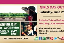 Girls Day Out - Saturday, June 21 / Slip on your favorite summer dress, pull out your fashion hat, and come out to Arlington for Girls Day Out!  Whether you want an all-inclusive experience inside or want to roam The Park, Girls Rule at Arlington.    / by Arlington International Racecourse