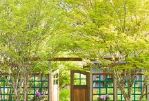 Gates / Get further ideas and inspiration in designing or redesigning your own garden gates: http://www.landscapingnetwork.com/fencing/gates.html