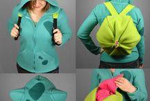 Sewing ~ Poke-hoodies!