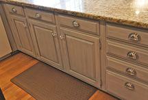 Laundry room cabinet refinish