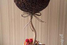 kavove stromceky a dekoracie