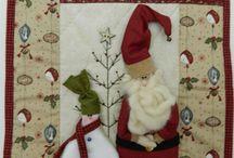 personnage de Noël en patchwork