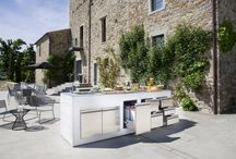 Outdoors / Stainless steel kitchen outdoors